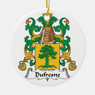 Dufresne Family Crest Ceramic Ornament