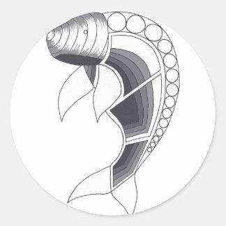 Dugong Classic Round Sticker