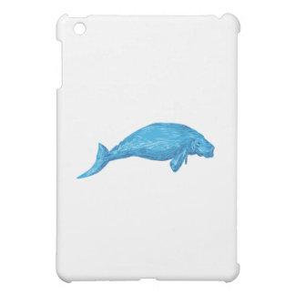 Dugong Drawing iPad Mini Cases