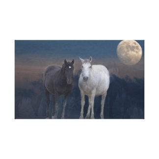 Dugway Wild Mustangs Stretched Canvas Prints