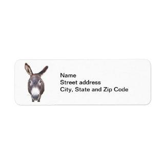 Duh! Donkey Return Address Label