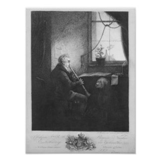 Duke Esterhazy Playing the Clarinet, 1809 Poster