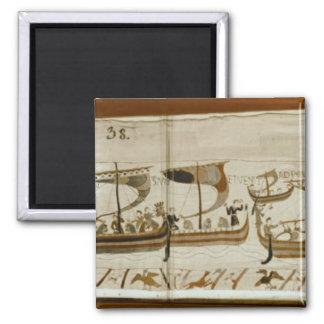 Duke William and his fleet cross Pevensey Magnet