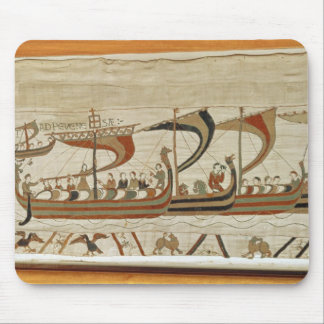 Duke William and his fleet cross the Channel Mouse Pad