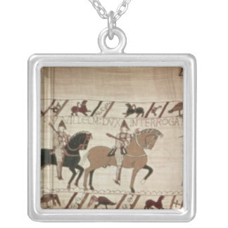 Duke William's knights arrive to do battle Silver Plated Necklace