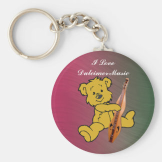 DULCIMER BEAR-KEYCHAIN KEY RING