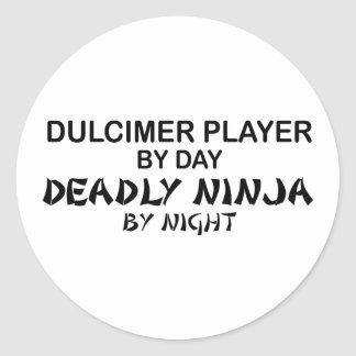 Dulcimer Deadly Ninja by Night Classic Round Sticker