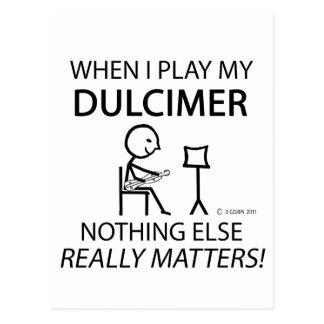 Dulcimer Nothing Else Matters Postcard