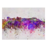Duluth skyline in watercolor background poster