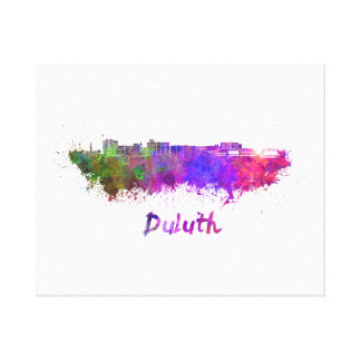 Duluth skyline in watercolor canvas print