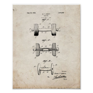 Dumb-bell Patent - Old Look Poster