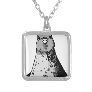 Dumb Birds Silver Plated Necklace