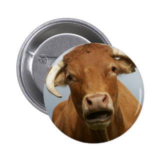 dumb cow 6 cm round badge
