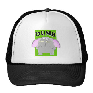 Dumb elephant cartoon cap