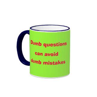 Dumb* Questions Dumb Mistakes Mug