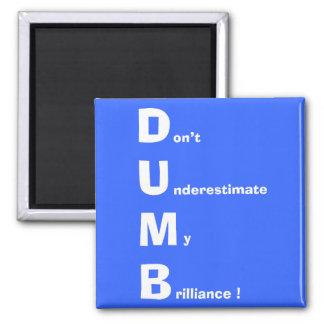 DUMB (white) Magnet