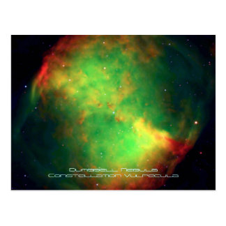 Dumbbell Nebula Constellation Vulpecula, The Fox Postcard