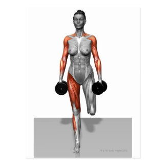 Dumbbell Single Leg Deadlift 4 Postcard