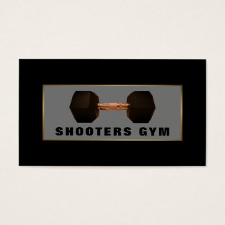 Dumbbell Weight, Gold Fitness Instructor, Gym Business Card