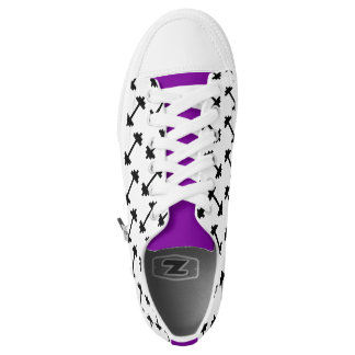 Dumbbell Weight Gym Fitness Purple Low Top Sneaker Printed Shoes