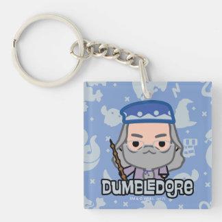 Dumbledore Cartoon Character Art Key Ring