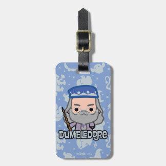 Dumbledore Cartoon Character Art Luggage Tag