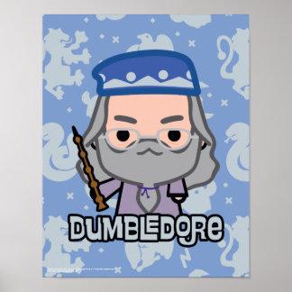 Dumbledore Cartoon Character Art Poster