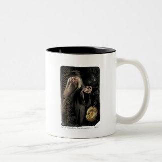 Dumbledore Script Logo Two-Tone Coffee Mug