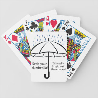 dumbrella bicycle playing cards