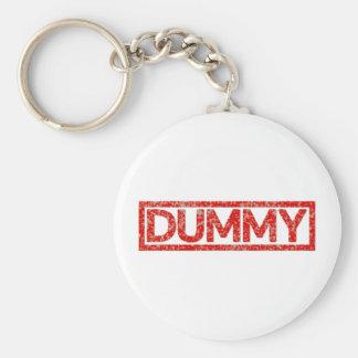 Dummy Stamp Basic Round Button Key Ring