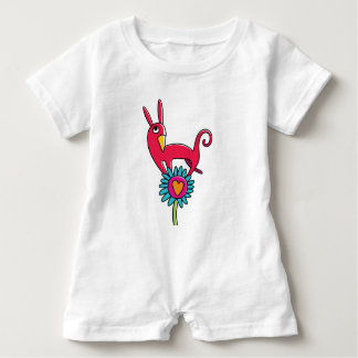 """Dummy """"the red Small dog """" Baby Bodysuit"""