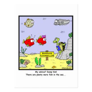 Dump him: Fish cartoon Postcard