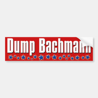 Dump Michele Bachmann Car Bumper Sticker