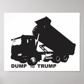 Dump the Trump - Dump Truck Poster