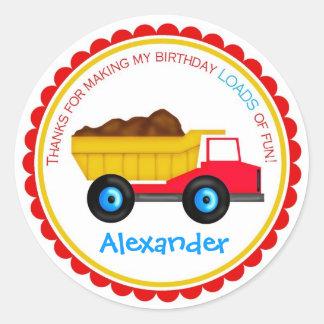 Dump Trcuk Birthday  Stickers