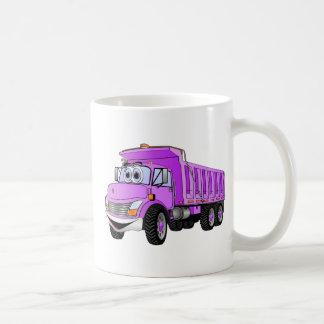 Dump Truck 3 Axle Purple Cartoon Basic White Mug