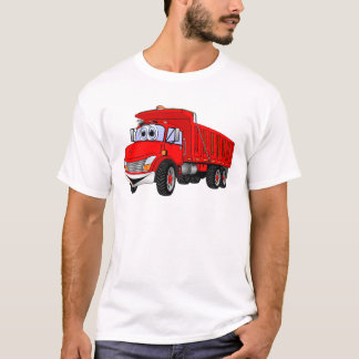 Dump Truck 3 Axle Red Cartoon T-Shirt