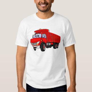 Dump Truck 3 Axle Red Cartoon Tee Shirt