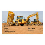 dump truck and backhoe pack of standard business cards