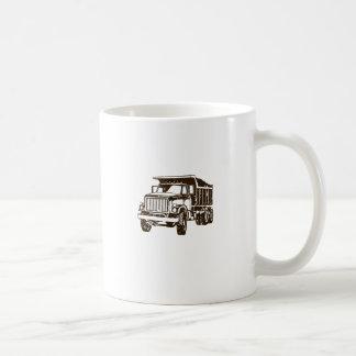 Dump Truck Basic White Mug