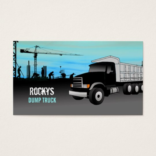 Dump Truck Business Cards