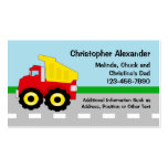 Dump Truck Calling Card Pack Of Standard Business Cards