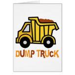 Dump Truck Card