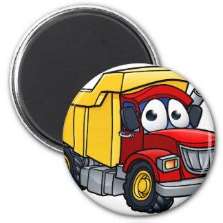Dump Truck Cartoon Character Magnet