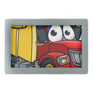 Dump Truck Cartoon Character Rectangular Belt Buckles