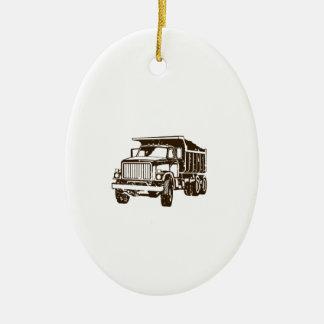 Dump Truck Ceramic Ornament