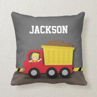 Dump Truck Construction Builder Boys Room Decor Cushions