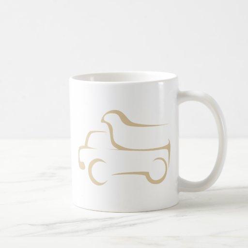 Dump Truck in Swish Drawing Style Mugs
