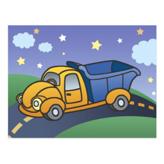 Dump Truck Kids Art Postcard