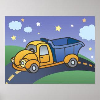 Dump Truck Kids Art Poster
